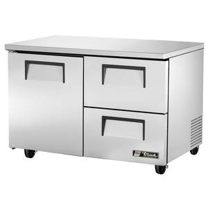True TUC-48D-2 12 Cu.Ft S/s Undercounter Cooler w/ 2 Drawers & Shelves