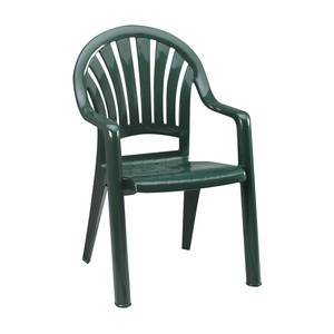 Grosfillex 16ea Pacific Fanback Patio Armchairs Green Or Sandstone