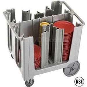 Cambro Adjustable Dish Caddy w/ 6 Dividers Holds Up To 360 Plates - ADCS