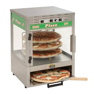 A.J. Antunes - Roundup PS-314 Pizza Station Oven w Rotating Rack Display Three 14 Pizzas