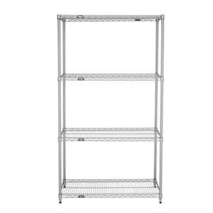 Titan Wire Shelving 1848-74CSET 18 x 48 x 74 Chrome Wire Shelving Unit