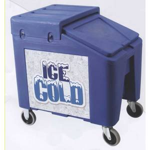 IRP IRP-5075 Ice Can Bottle Catering Caddy II w/ 5 Casters & Lid