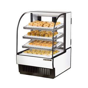 True TCGD-31 31in Curved Glass Non Refrigerated Dry Bakery Display Case