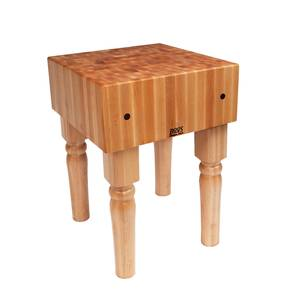 John Boos AB07 30 x 30 Solid Maple Butcher Block Table w/AB Legs