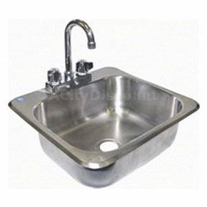 Drop In Hand Sink 16 x 15 Stainless Steel NSF - HS-1615IH