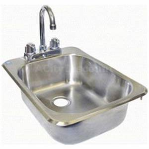 Drop In Hand Sink 1 Compartment S/s W/ Deck Mount Faucet NSF - HS-1317IH