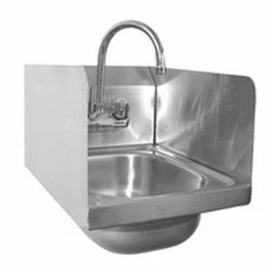 HS-1217SS Hand Sink 12x17 Stainless Splash Guards NSF