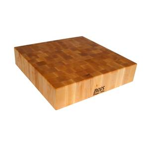 John Boos 30x 30x 6 Reversible Square Maple Chopping Block - BB03