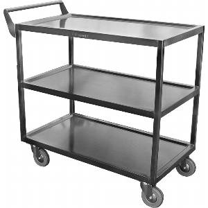 C-4222 33 x 18 Stainless Utility Cart 5 Casters 350lb Capacity