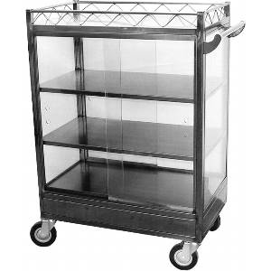 Chinese Dim Sum Large Cart S/s w 6 Casters - C-DSL