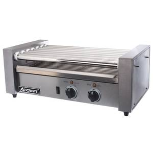 Adcraft 18 Hot Dog Roller Grill Stainless 7 Rollers & Dual Control - RG-07