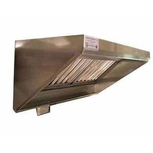 Superior Hoods CS30-4-108 9ft x 2.5ft Stainless Concession Grease Hood - 4in Front