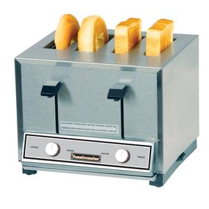 Toastmaster Four Slot Combo Toaster For Bread & Bagels 150 Slices/Hour - HT409