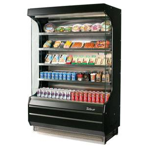 Turbo Air Refrigerated Open Display Case Black 39 x 28 - TOM-40B