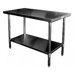 Economy 24 x 36 S/s Work Top Table w/Undershelf - WT-E2436