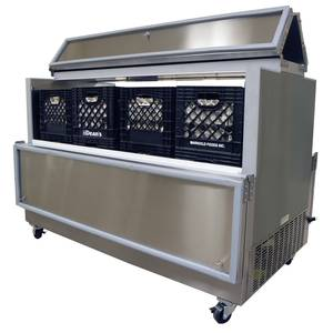 Nor-Lake AR124SSS/0 49 Stainless Dual Access Milk Cooler
