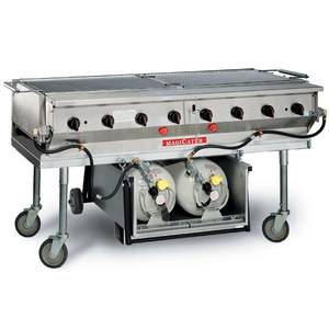 Magikitch'n LPAGA-60-SS 60 S/s Magicater Transportable LP Gas Grill w/ 40LB Holder