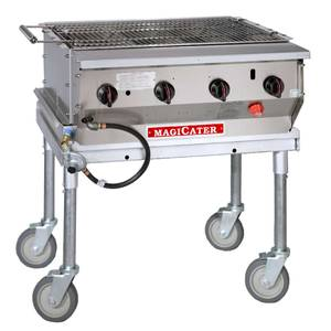 Magikitch'n 30 Aluminized Steel Magicater Transportable Gas Grill - LPG-30
