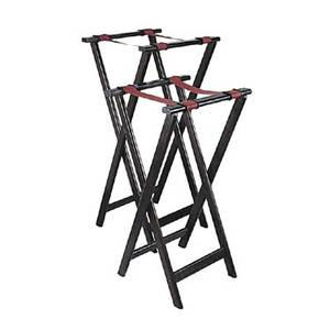 Adcraft WTS-32 4ea, Deluxe Mahogany Hardwood Tray Stands