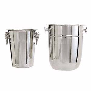 Adcraft WB-8 24 ea Stainless 8 Quart Wine Buckets W/ 2 Knob Handles