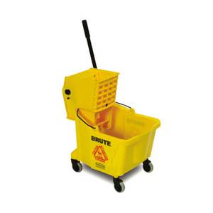 Adcraft Yellow Rubbermaid Bucket & Wringer Combo Pack - R-7577Y