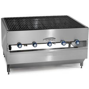 Imperial Range 48 x 27 Stainless Gas Chicken Broiler w/ 5 Burners - ICB-4827