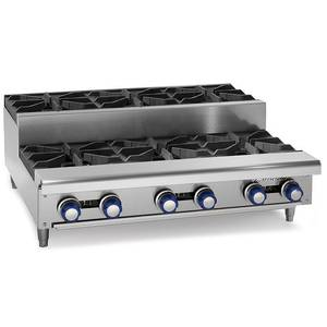 Imperial Range IHPA-2-12SU 12 Natural Gas Countertop Step-Up Hotplate w/ 2 Burners