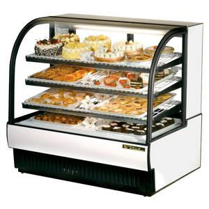 True TCGR-50 27.4 Cu.Ft Curved Glass Refrigerated Bakery Case