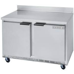 Beverage-Air WTR48A 13.9 CuFt 48 Wide Two Section Work-Top Refrigerator