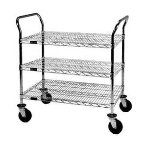 Eagle Group EU3-1830C Medium Duty 18in x 30in Utility Cart w/ 3 Shelves
