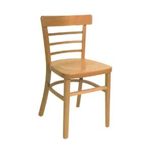American Tables & Seating 850-VS Ladder Back Side Chair w/ Beech Frame & Veneer Rounded Seat
