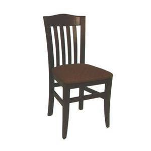 American Tables & Seating 830-GR4 Slat Back Side Chair w/ Beech Frame & Upholstered Seat