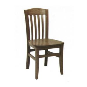 American Tables & Seating Space Saver Side Chair w/ Hardwood Frame & Saddle Seat - 230-SWS