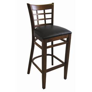 American Tables & Seating 223-BS-GR4 Grid Back Bar Stool w/ Hardwood Frame & Upholstered Seat
