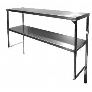 DS-1672 72x16 Stainless Steel Double Overshelf for Worktable