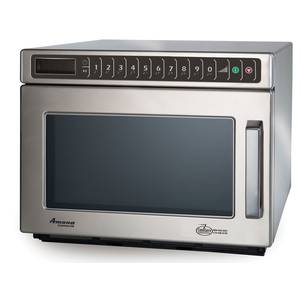 Amana C-Max 0.6 CuFt Commercial Microwave Oven Stainless 1200w - HDC12A2