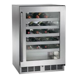 Perlick Residential 24 Signature Series Under Counter Glass Door Wine Reserve - PR-HP24WS-3*