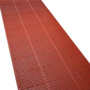 Tomlinson Industries C-Kure Multi Trac Roll Mat Red Grease Resistant Kitchen Mat - 1035072