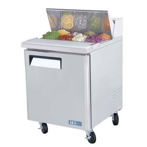 Turbo Air MST-28 28 Sandwich Salad Prep Cooler Cold Air Compartment8 Pans