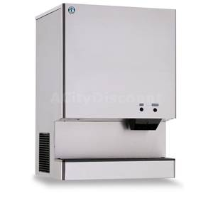 Hoshizaki 744lb Ice Maker Stand Up Water Cooled Ice Dispenser 95lb Bin - DCM-750BWH-OS