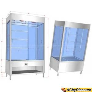 Customized Heated BBQ Display Case