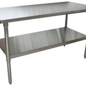 BK Resources Economy 30 x 60 S/s Work Top Table with Undershelf NSF - VTT-6030
