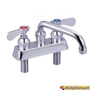 BK Resources BKF-4DM-10 Deck Mount 10 Swing Spout Faucet w/ 4 Center