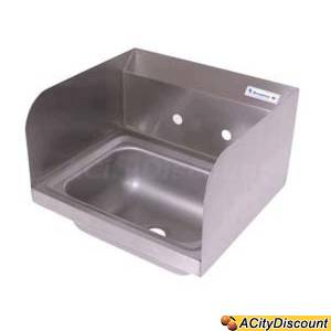 BK Resources BKHS-W-1410-** Stainless Wall Mount Hand Sink 14 x 10 Side Splash NSF