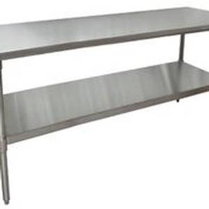 BK Resources Economy 72 x 24 Stainless Work Top Table w/ Undershelf - VTT-7224