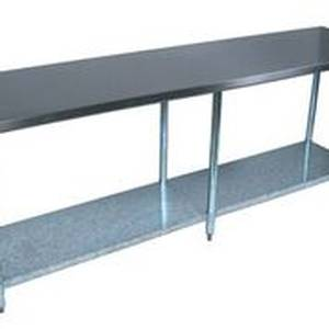 BK Resources VTT-9624 Economy 96 x 24 Stainless Work Top Table w/ Undershelf