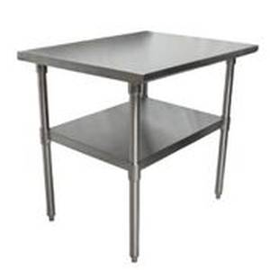 BK Resources VTT-3630 Economy 36 x 30 Stainless Work Top Table w/ Undershelf