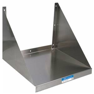BK Resources Commercial Stainless 24 Microwave Wall Mount Shelf NSF - BKMWS-2024
