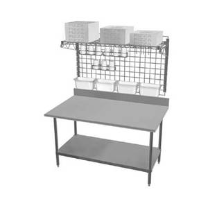 Eagle Group TSPP2460Z Commercial Pizza Prep Station Workstation Table w/ Shelves