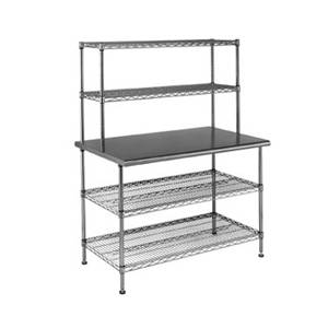 Eagle Group Commercial Work Table System 24 x 60 x 63 w/ Shelves - T2460EBW-2